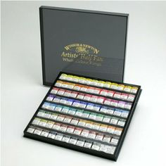 Amazon.com: Windsor & Newton artist watercolor half pan 96 color set (japan import): Toys & Games