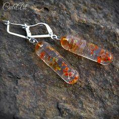 Resin earrings...with dried flowers... #resin #crystalresin #earrings #handmade #shiny #flowers