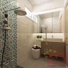 HDB BTO 4-Room @ Blk 308A Waterway Terraces - Interior Design Singapore bathroom