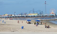 Pleasure Pier, Galveston, TX right outside Houston