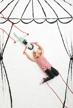 Trapeze Doll from Mer Mag's book PLAYFUL! out Sept. 16, 2104. Photo by Nicole Gerulat.
