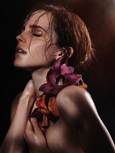 Emma Watson Gets Naked For Earth Day This is a beautiful photo.