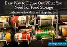 Over the years I have come to LOVE my food storage. It has actually simplified my life and created a lot of peace of mind. But it wasn't always that way. When I first got started my biggest. Emergency Food Storage, Emergency Food Supply, Emergency Preparedness, Provident Living, Survival, Canning Recipes, Canning Tips, Freeze Drying Food, Dehydrated Food