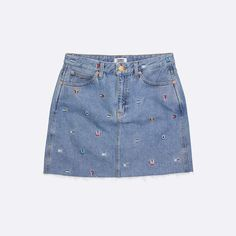 Shop women's dresses and skirts from Tommy Jeans. Tommy Hilfiger Shorts, Hilfiger Denim, Tommy Hilfiger Women, Jean Skirt, Denim Skirt, Direct Marketing, Embroidered Jeans, Short Skirts, Preppy
