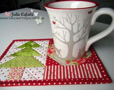 Free Quilted Christmas Mug Rug Patterns Free Quilted Christmas Mug Rug Patterns Quilting Arms Reach Bedside Biometric Gun Safe Holiday Tree Skirt Log Cabin Quilts w Methods 30 Design Quilting Pattern Book Christmas Mug Rugs, Christmas Placemats, Christmas Crafts, Xmas, Quilted Christmas Gifts, Christmas Christmas, Small Quilts, Mini Quilts, Mug Rug Tutorial