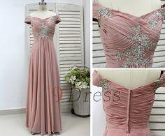 Beading shiny Straps Prom Dress Bridesmaid Dress Long by 9Dress