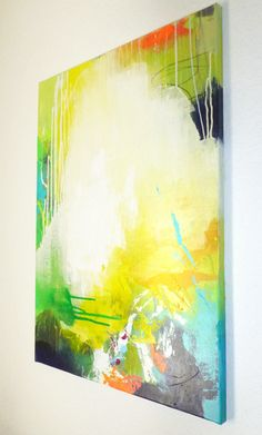 Original abstract painting, abstract art, modern art, acrylic painting, colorful…