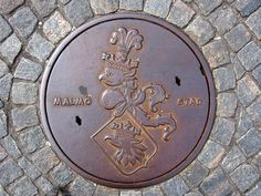 Malmö, Sweden This sewer lid features the city's coat of arms Photograph: PAF/Alamy - The unexpected beauty of manhole covers around the world - in pictures