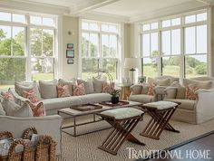 Lovely New England Summer Home with Neutral Palette | Traditional Home