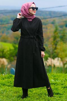Hijab Evening Dress, Hijab Dress, Evening Dresses, Black Hijab, Modest Wear, Daily Dress, Belts For Women, Black Belt, Different Styles