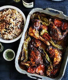 Turkish-style roast chicken & rice pilav recipe | Gourmet Traveller WINE recipe - Gourmet Traveller