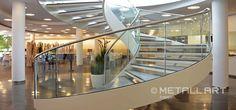Wendeltreppen mit Glasgeländer | MetallArt Metallbau Schmid GmbH
