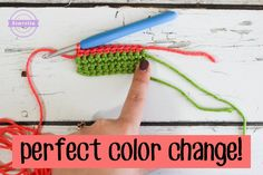 I have the ultimate trick for you all - you're gonna love it! Below I have an in-depth photo tutorial for my favorite color changing method. I change colors a lot in crochet and was always afraid of stripes before trying out this trick - now I'm hooked and never going back!