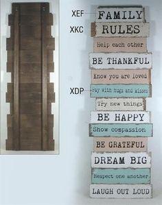 Huisregels op creatieve wijze