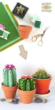 DIY This Cute Felt Catus And Succulents. No Sewing Skills Perfect For Spring.