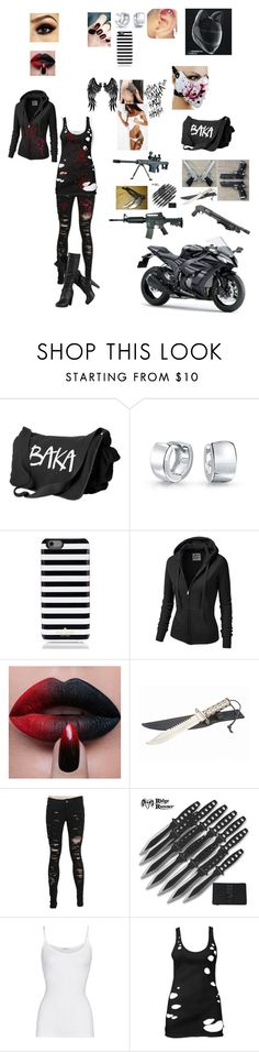"""Untitled #48"" by jack-loves-cake on Polyvore featuring Bling Jewelry, Goody, Kate Spade, J.TOMSON, RIFLE, American Vintage and Forever 21"