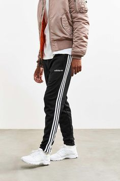 Shop adidas + UO Fitted Track Pant at Urban Outfitters today. Swag Outfits, Sport Outfits, Adidas Outfit, Adidas Pants, Pants Outfit, Men's Pants, Sweat Pants, Sport Fashion, Fashion Pants