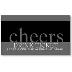 Rehearsal dinner plans on pinterest by jerrypauline for Drink token template