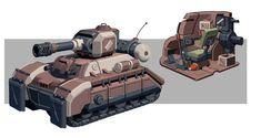 Tank Concept Art, Morten Skalvik on ArtStation at https://www.artstation.com/artwork/tank-concept-art-383acabe-9a42-4430-8683-e5f53a85365d