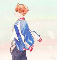I know this is Jimin of BTS but it looks like fan art of Prince of Tennis