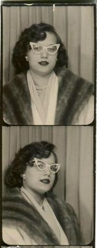 Vintage Photobooth ..check out the cat eye glasses...