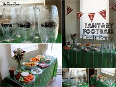 Fantasy Football Draft Party. I love the football bunting! If only we were having a draft party...