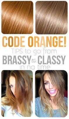 Remove brassiness from blonde hair and other unwanted red tones from brown hair with this super easy trick!