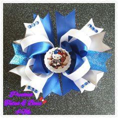 Hello Kitty Dodgers Hair Bow by PreciousTutusNBow4Me on Etsy, $6.00