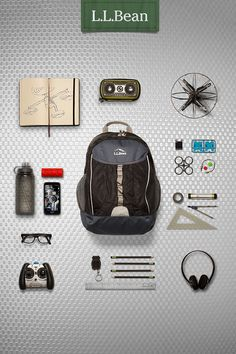 With features and materials from our hiking packs – like water-bottle holders, daisy chain, front stuff pocket and a body made from tough ripstop nylon – the L.L.Bean Explorer Backpack is loaded with technology even before you pack it for school.