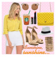 Ray of Sunshine by gojane on Polyvore featuring chic, Heels and shorts