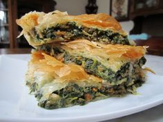 Spinach Strudel. I am getting so hungry looking at this!! I need to make some quickly!