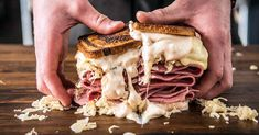 This Reuben sandwich recipe makes enough for one sandwich, including the Russian dressing. Just scale it up to make more sandwiches, and any extra dressing will keep in the fridge. Reuben Sandwich, Sandwich Recipes, Alton Brown, Wood Pellet Grills, Creamed Potatoes, Wood Fired Pizza, How To Grill Steak, Smoker Recipes, Meatloaf Recipes