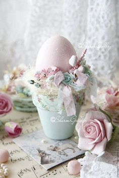 Ideas For Craft Ideas Easter Flower Pots Easter Egg Crafts, Easter Projects, Easter Eggs, Easter Flowers, Easter Holidays, Vintage Easter, Easter Wreaths, Spring Crafts, Easter Parade