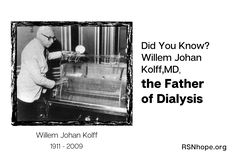 Did You Know? Willem J. Kolff, MD, the Father of Dialysis Dialysis, Did You Know, Father, Health, Pai, Health Care, Dads, Salud