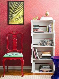 Pallet Crates, Pallet Boxes, Wood Crates, Wood Boxes, Home Office Decor, Home Decor, Marco Antonio, Home Upgrades, Decoration