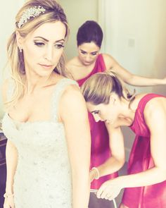 Jewelled headband & bridal hair styling of bride and bridesmaids by me (Sarah Roberts)