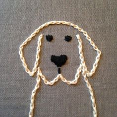 Labrador Retriever embroidery hoop / Wall by HaitiHoopsBoutique