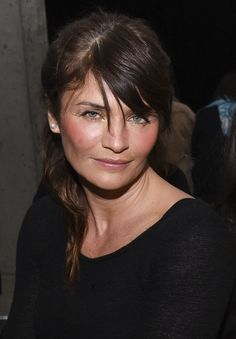 Model Helena Christensen attends the Edun show during Mercedes-Benz Fashion Week Fall 2015 at Skylight Modern on February 15, 2015 in New York City.