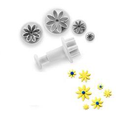 Cortador con expulso de flores para fondant