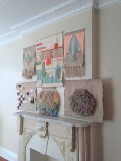 buysomedamnart collection of hand-woven tapestries by Maryanne Moodie.