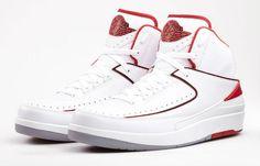 Air Jordan 2 Retro White Varsity Red Black abf320d15332