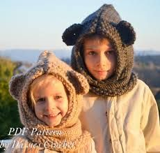 crochet hood patterns free - Google Search