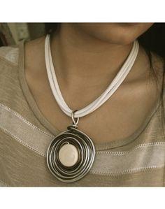 """BRONZE & SILVER DICHROIC"" by KSAR Jewels, LLC #Jewelry_Designer"