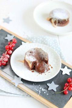 Chocolade lava cake met salted caramel. #lavacake #moelleux