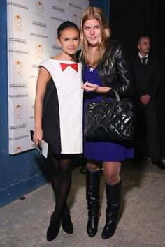 Miroslava Duma's dress is super adorable! The little bow is awesome :)