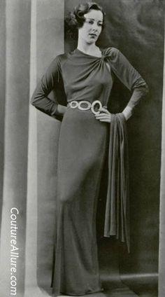 Lucien Lelong dress, 1936