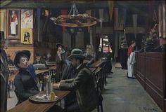 Santiago Rusiñol – Café des Incohérents, 1889-1890, Oli sobre tela, 80 x 116 cm | Museu de Montserrat