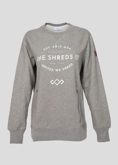 Crew Sweatshirt With Zippered Pockets - SheShreds.co USE CODE: LAURIE for a discount