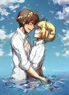 Eren/Armin - Shingeki no Kyojin/Attack on Titan Manga Anime, Anime Ai, Comic Anime, Fanarts Anime, Anime Characters, Attack On Titan Eren, Attack On Titan Ships, Attack On Titan Fanart, Eren X Armin