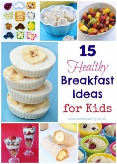 15 Healthy Breakfast Ideas for Kids - - Healthy Breakfast Ideas for Kids - 15 quick and easy breakfast ideas and recipes that the whole family will love! With easy breakfast recipes for kids too. Easy Meals For Kids, Healthy Snacks For Kids, Healthy Breakfast Recipes, Kids Meals, Healthy Children, Healthy Recipes, Healthy Breakfast For Toddlers, Breakfast Ideas For Kids, Children Breakfast